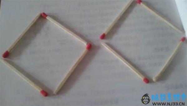8根火柴棍组成的四边形